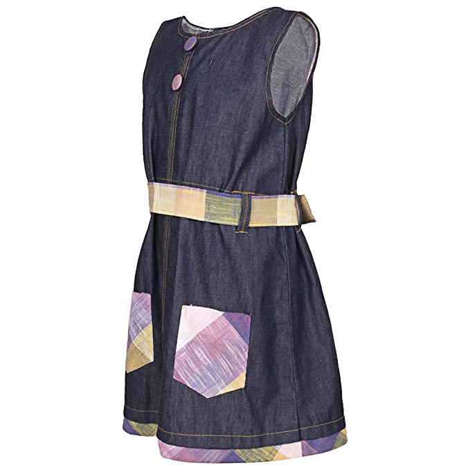 5ddb5ff76 GOODWILL Girls Denim Frock  Amazon.in  Clothing   Accessories