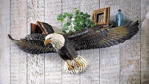 3D Eagle Sculpted Wall Shelf