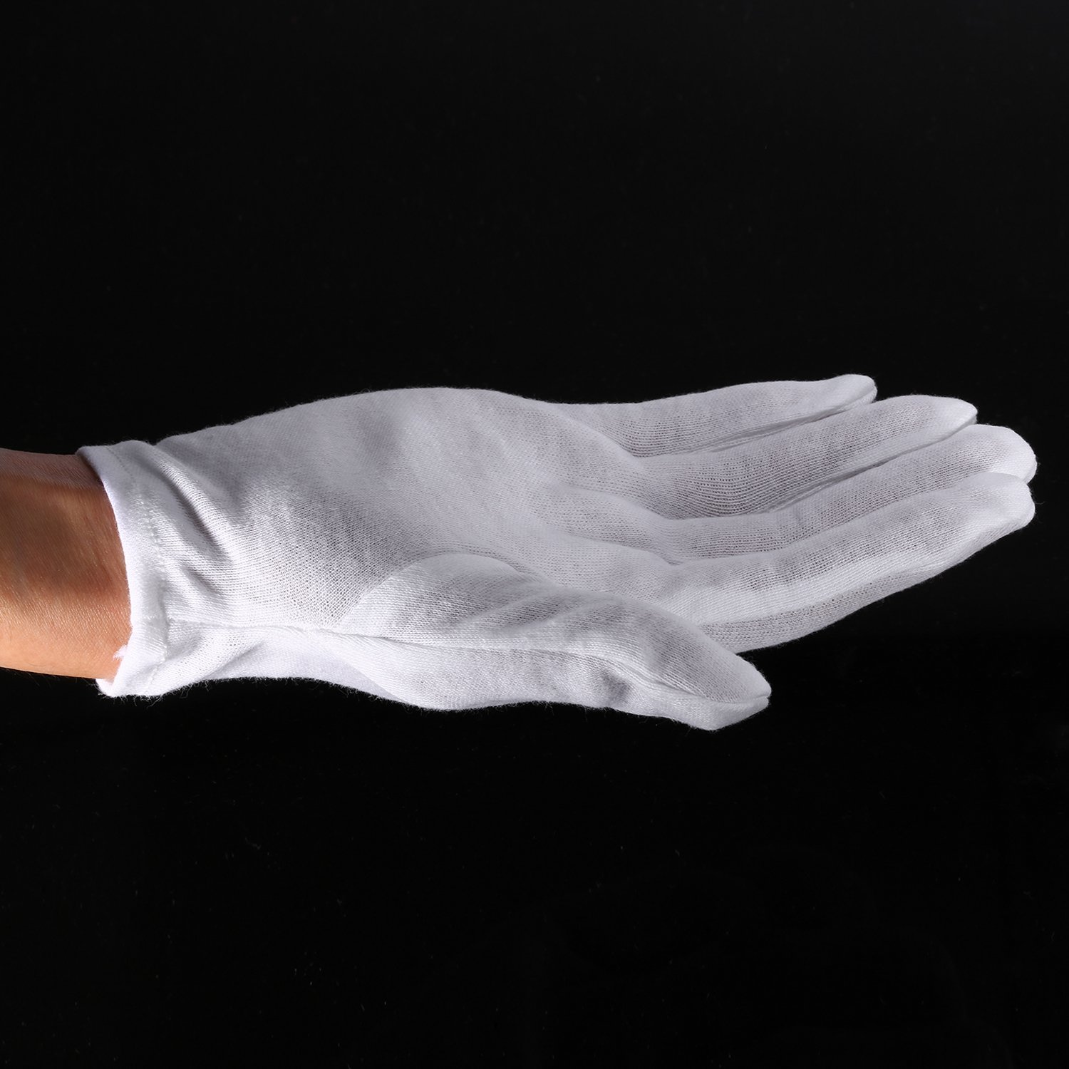 Neewer 24 Pairs (48 Gloves) 100% Cotton Lisle White Inspection Work Gloves for Coin, Jewelry, Silver, or Photo Inspection by Neewer (Image #4)