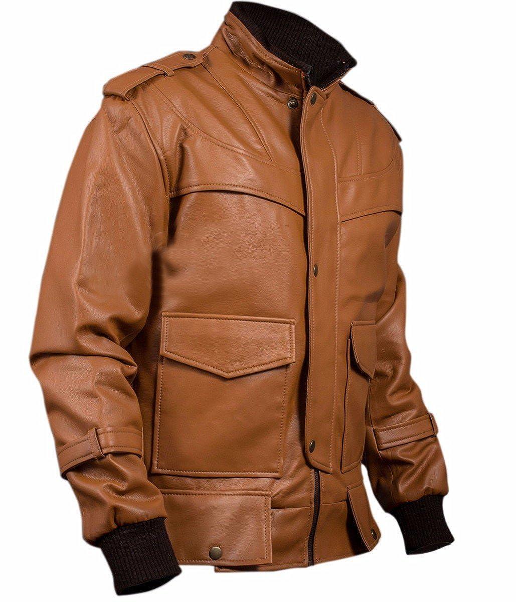 Flap Jacket Mock Bomber Col Hommes Poches Avec Veste lF1JcK