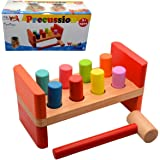 Wooden Pounding Bench with Hammer for Babies Children Infants Kids Toddlers