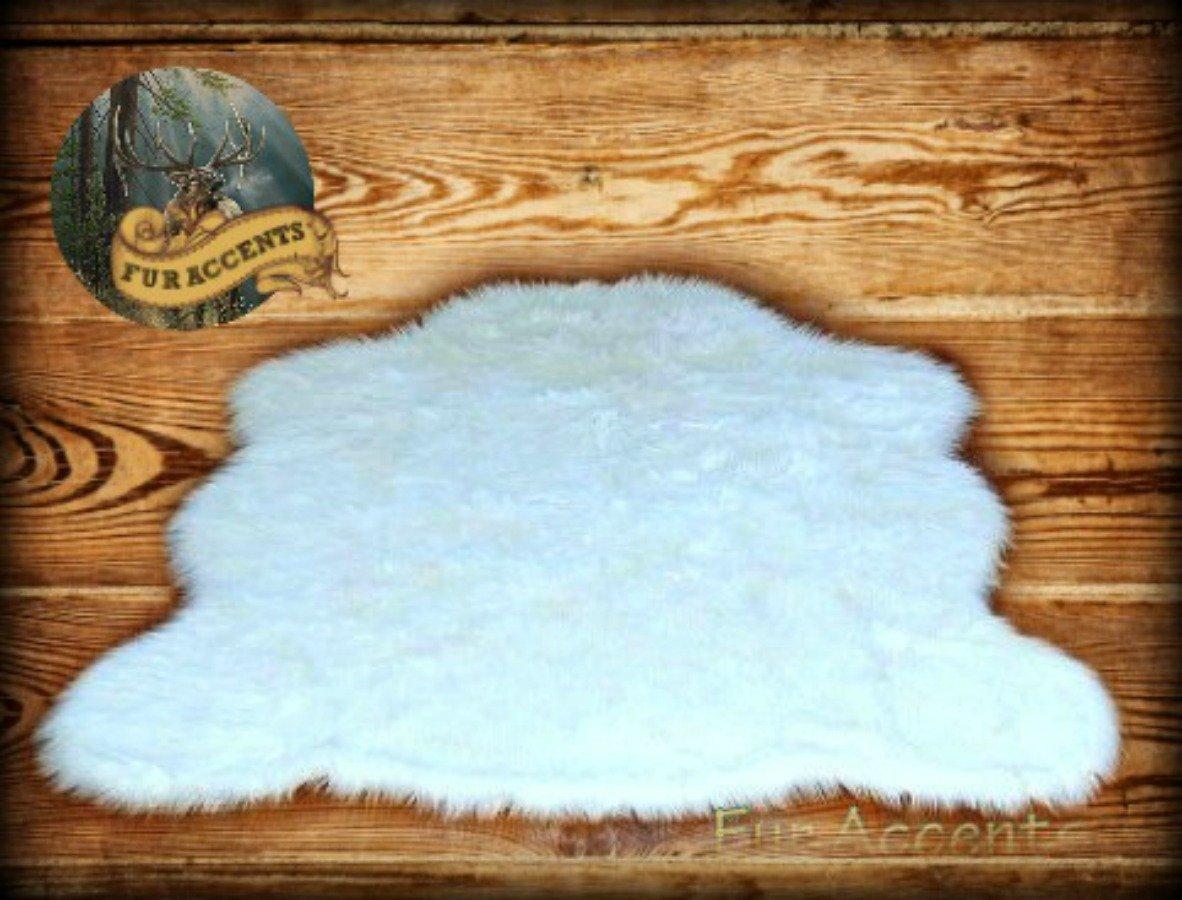 Faux Bearskin Rug Amazoncom Faux Sheepskin Rug White Large 4 6 X 6 8