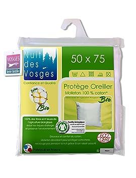 taie oreiller 50 75 Nuit des Vosges 204482 sous Taie d'oreiller Molleton Bio Coton  taie oreiller 50 75