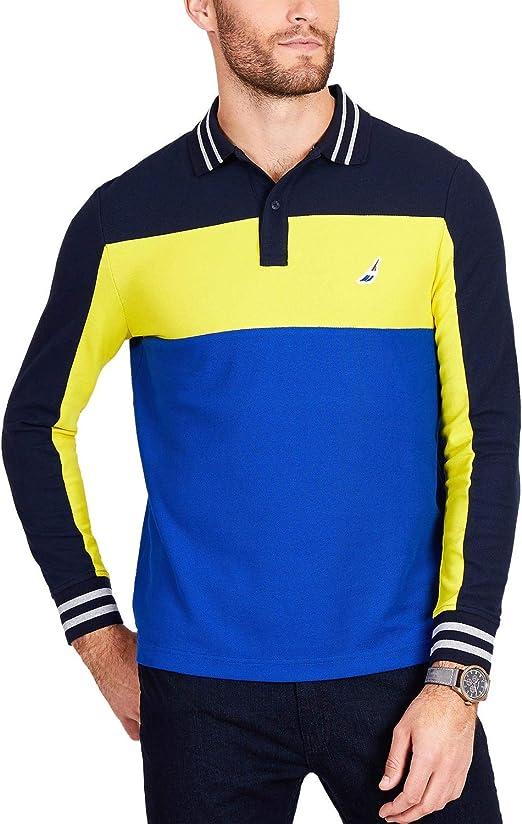 Nautica Mens Colorblocked Rugby Polo Shirt: Amazon.es: Ropa y ...