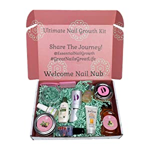 Ultimate Natural Nail Growth Kit Calming Sugar Scrub-Exfoliating Manicure Brush-Anti Anxiety Organic Oil-Miracle Growth Apple Cider Vinegar-Nail Hardener-Cuticle Oil-Men-Women (Eucalyptus)
