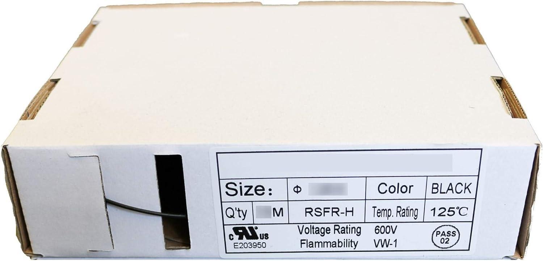 1,5 mm Schrumpfschlauch Box 3:1 schwarz halogenfrei in der Box 4,5 mm