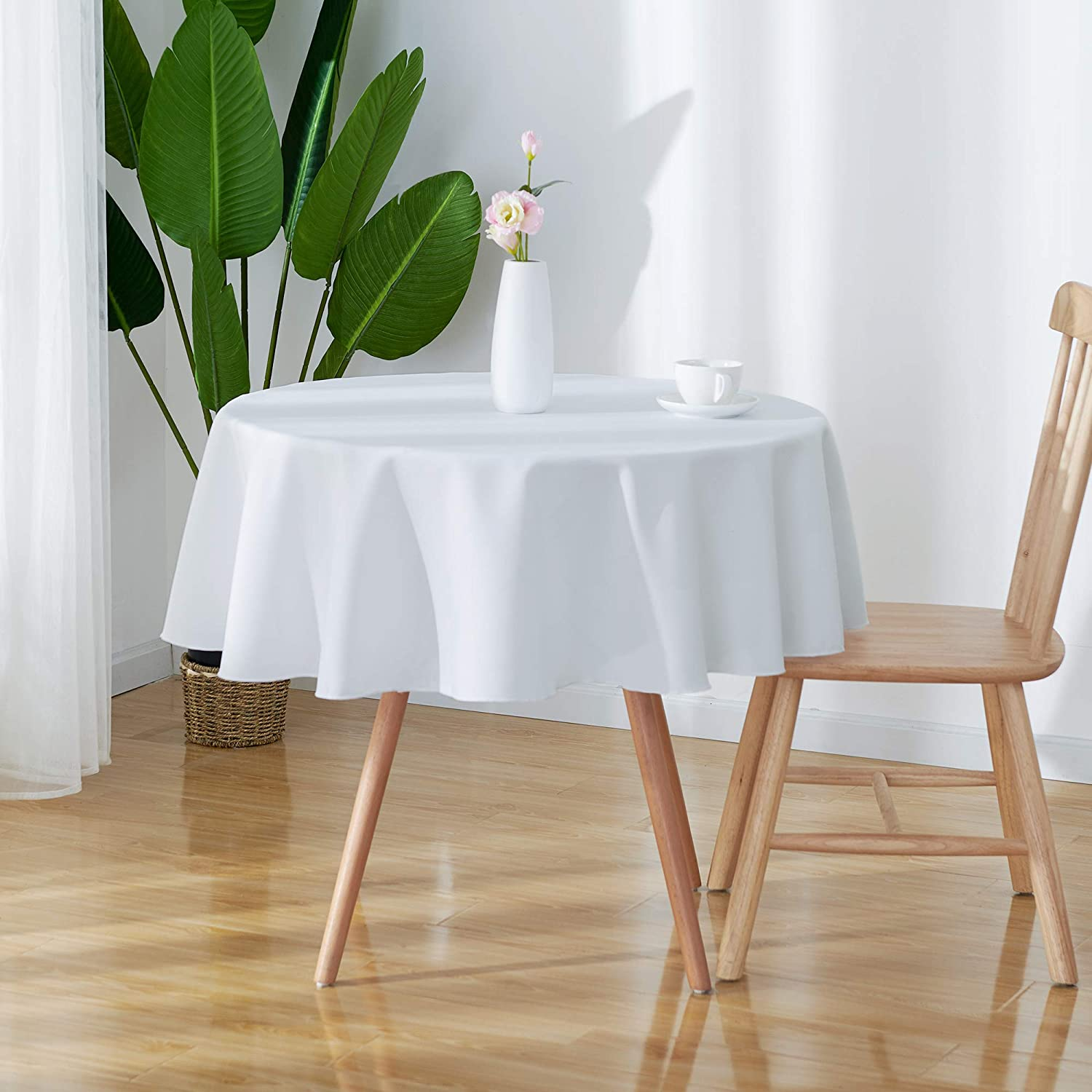 Polyester Table Cloth Cover Dining Kitchen Table Protector Multi Colours UK Sell