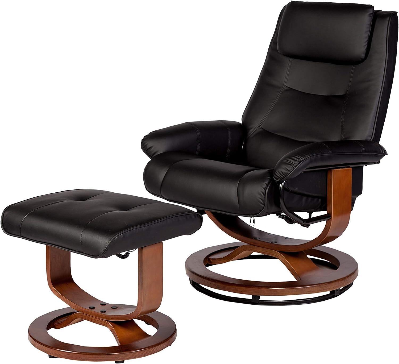 RelaxZen Deluxe Padded Massage Recliner, Black