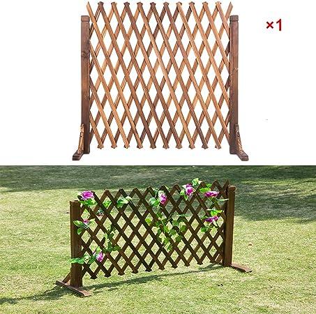 JF-HYWL Valla de Madera Valla de Jardín Decorativa Telescópica Planta Trepadora Ayuda Trellis Pet Nursery Fence. (Tamaño : 75 * 160cm): Amazon.es: Hogar
