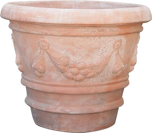 Vasque festonné vieilli en terre cuite toscane diam.70x60 cm ...
