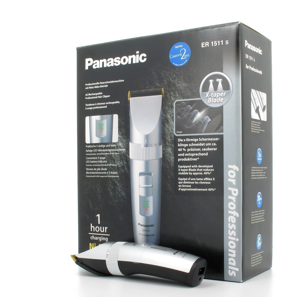 Panasonic ER1511 Professional Cordless Hair Clipper by Panasonic (Image #1)