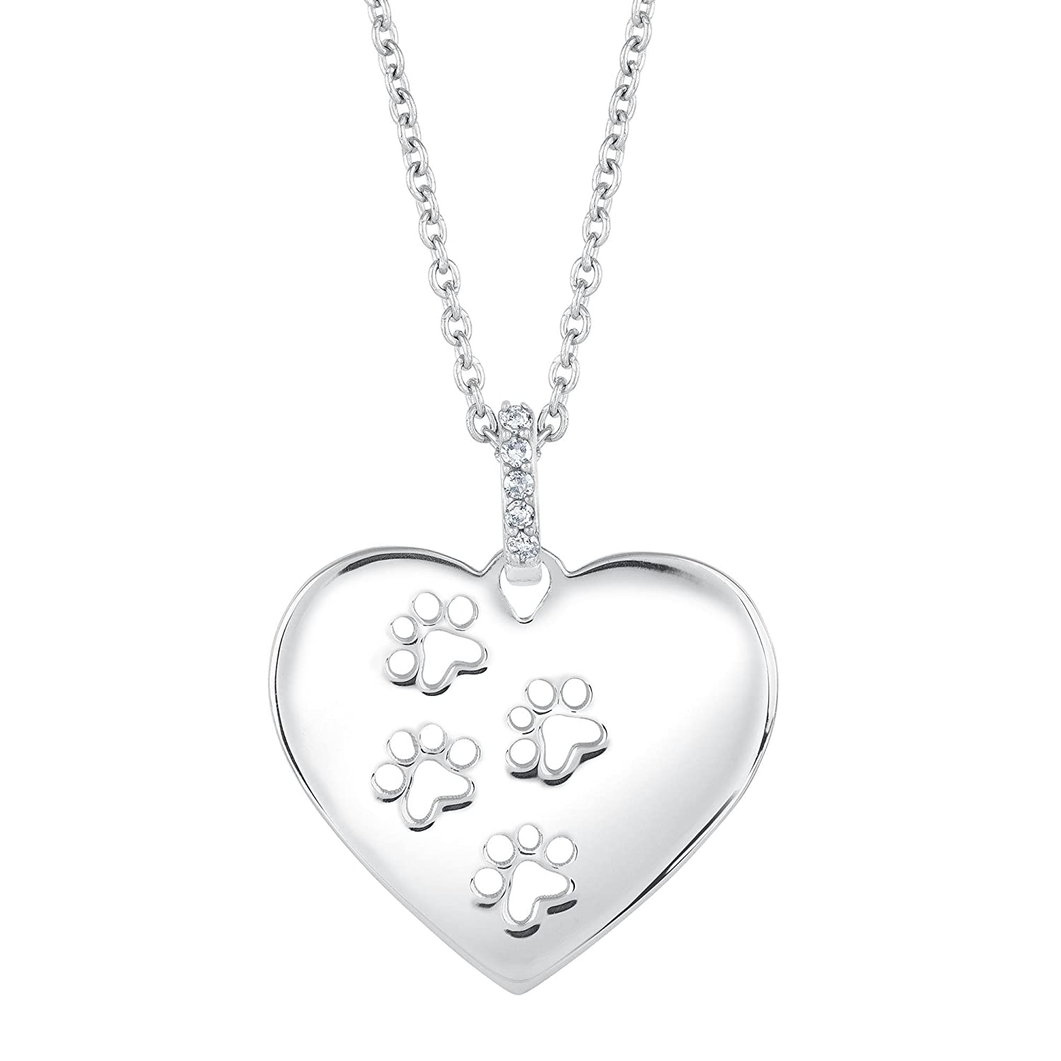 Amazon aspcar tendervoicesr diamond heart paw print amazon aspcar tendervoicesr diamond heart paw print pendant pendant necklaces jewelry buycottarizona Image collections
