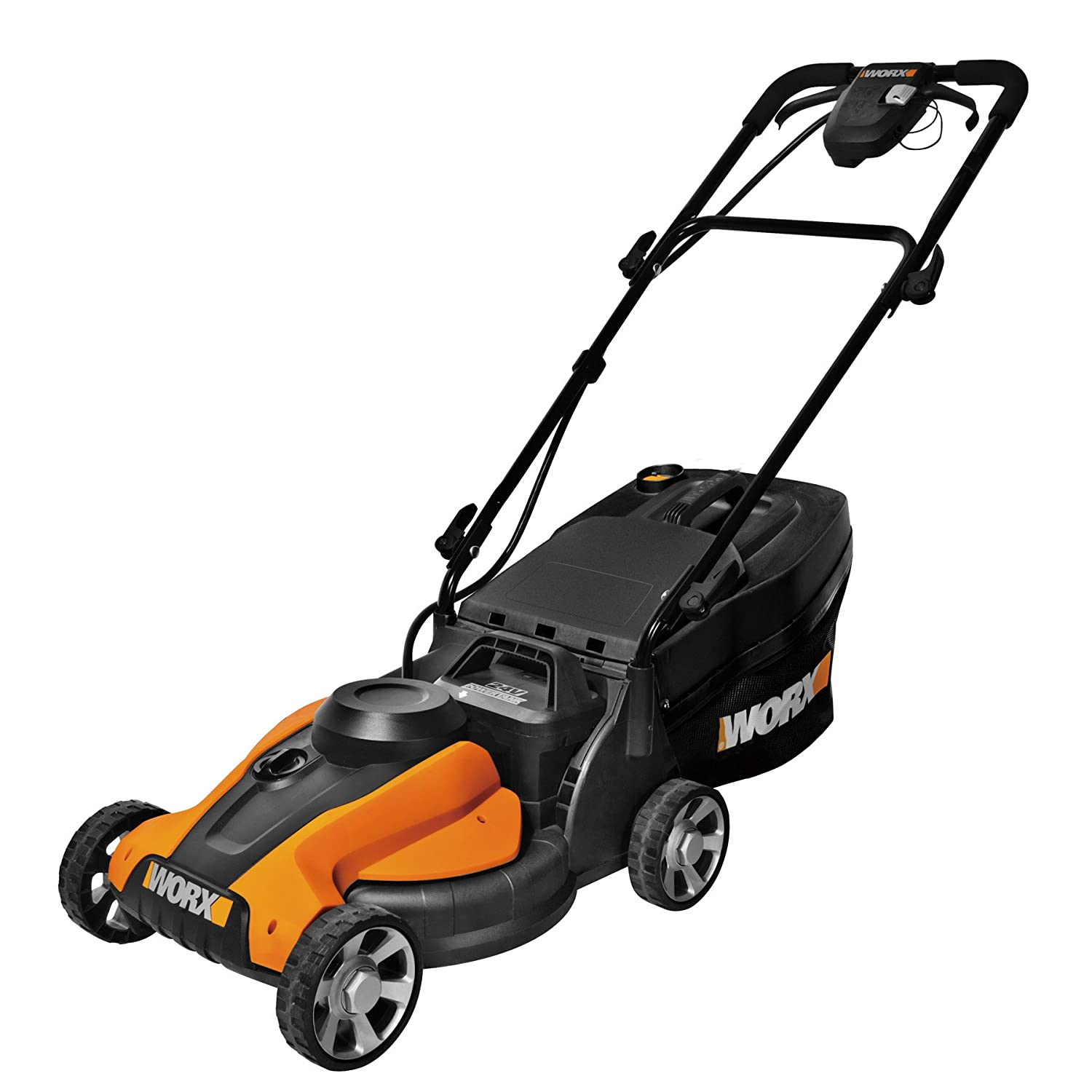 Amazon WORX WG782 14 Inch 24 Volt Cordless Lawn Mower with