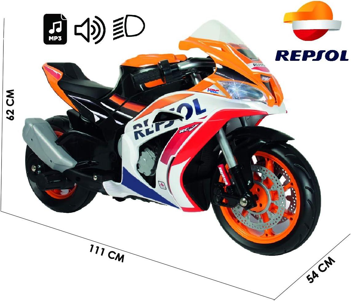 INJUSA Marc Márquez Moto Repsol 12V, Color Naranja (6491)
