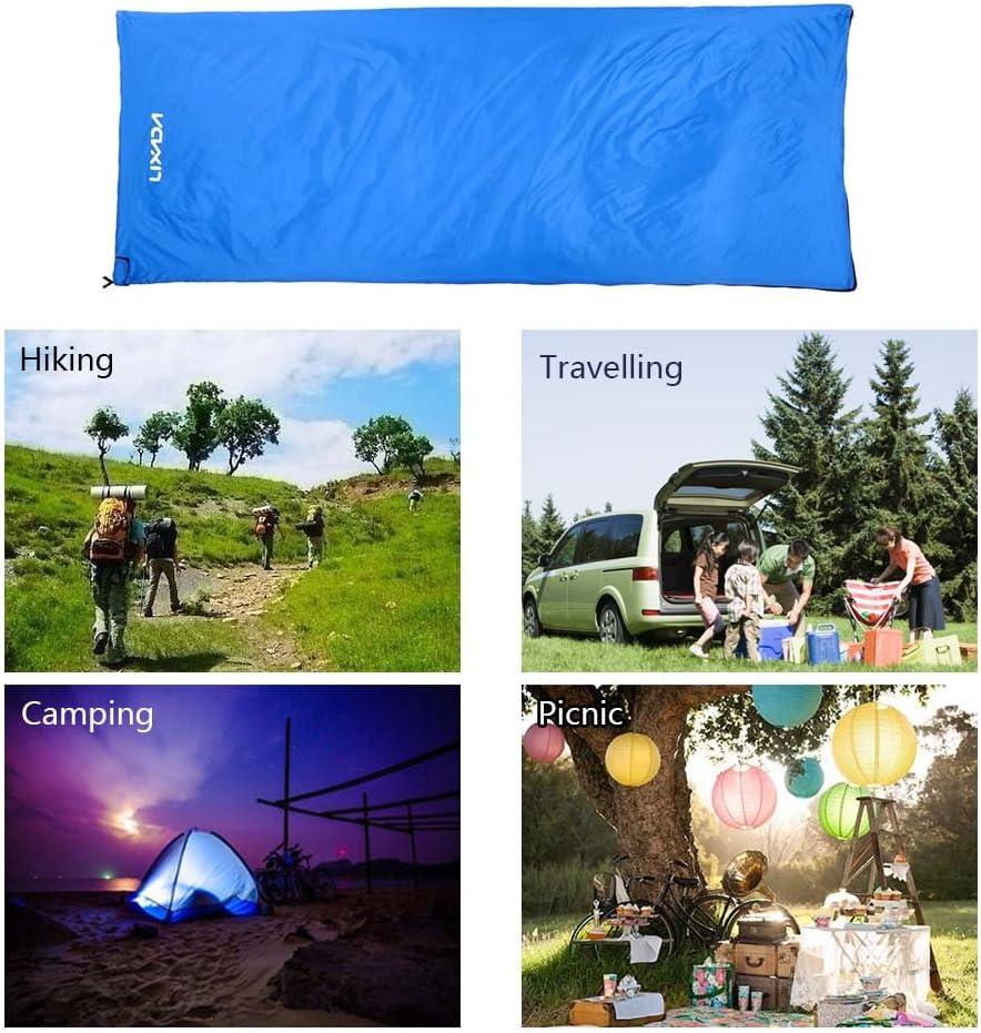 Voyage Randonn/ée Multifonction Ultra l/éger Enveloppe ext/érieure Sac de Couchage avec Sac de Compression 650g Lixada Sac de Couchage Camping