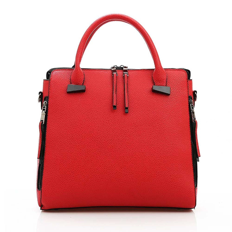 ATOLO Large PU Handbag (Red)