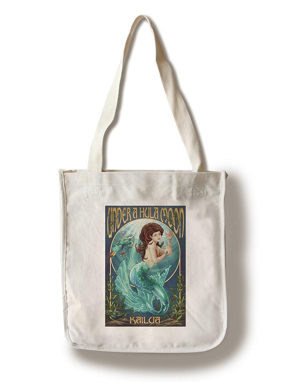 【最安値挑戦】 Kailua, Hawaii - Travel - Under (9x12 a Hula Moon - Mermaid (9x12 Art Print, Wall Decor Travel Poster) by Lantern Press B01841HU7M Canvas Tote Bag Canvas Tote Bag, 彩華生活:dde571e9 --- urviinteriors.com