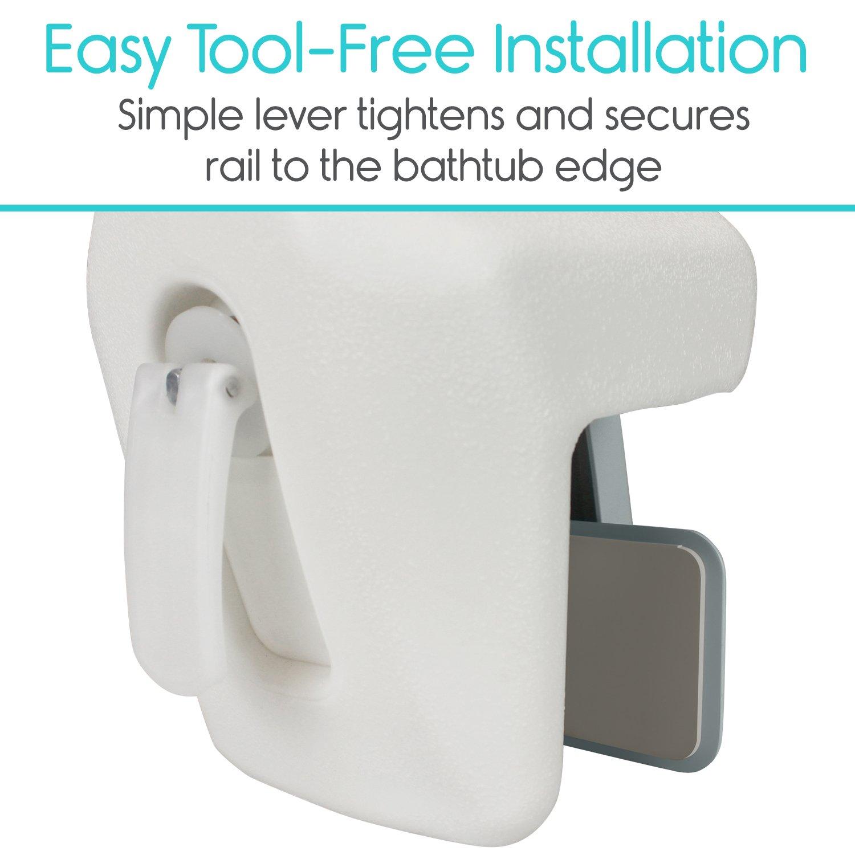 Vive Bathtub Rail Heavy Duty Bathroom Tub Safety Rail