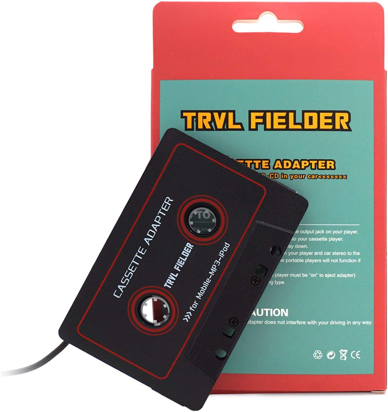 MWIN Aux Cord Cassette Adapter for Car Tape Deck
