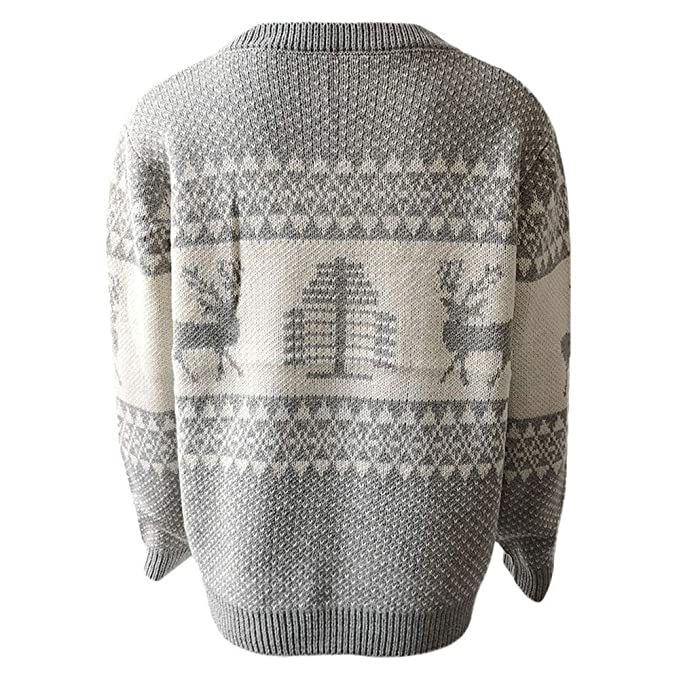 Amazon.com: Womens Sweater Pullover,Long Sleeve O-Neck Christmas Tree Knitting Sweater Tops(Gray-Large|Gray): Clothing