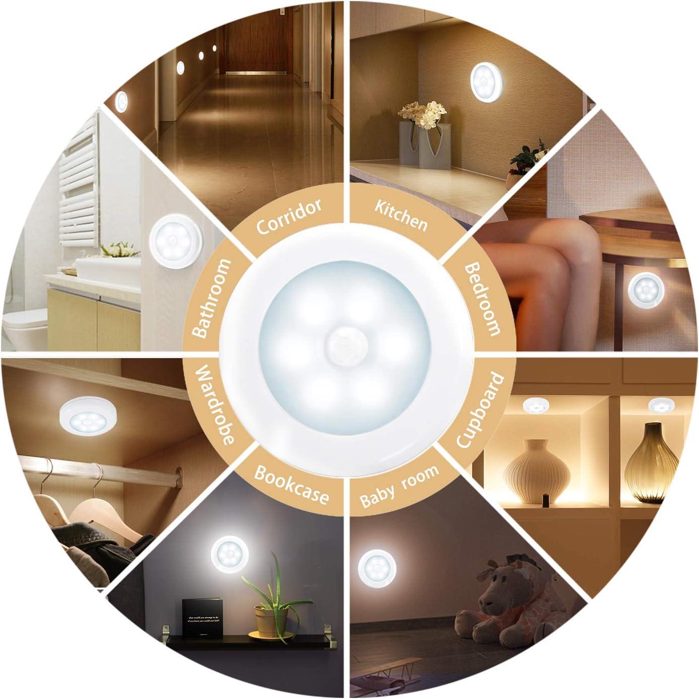 Option optionnelle Accessoires magn/étiques Emballage de 3 pi/èces filtres et Accessoires Nouveaut/é Place Accessoires LED-Bewegungsmelder Piles Super Bright Accessoires