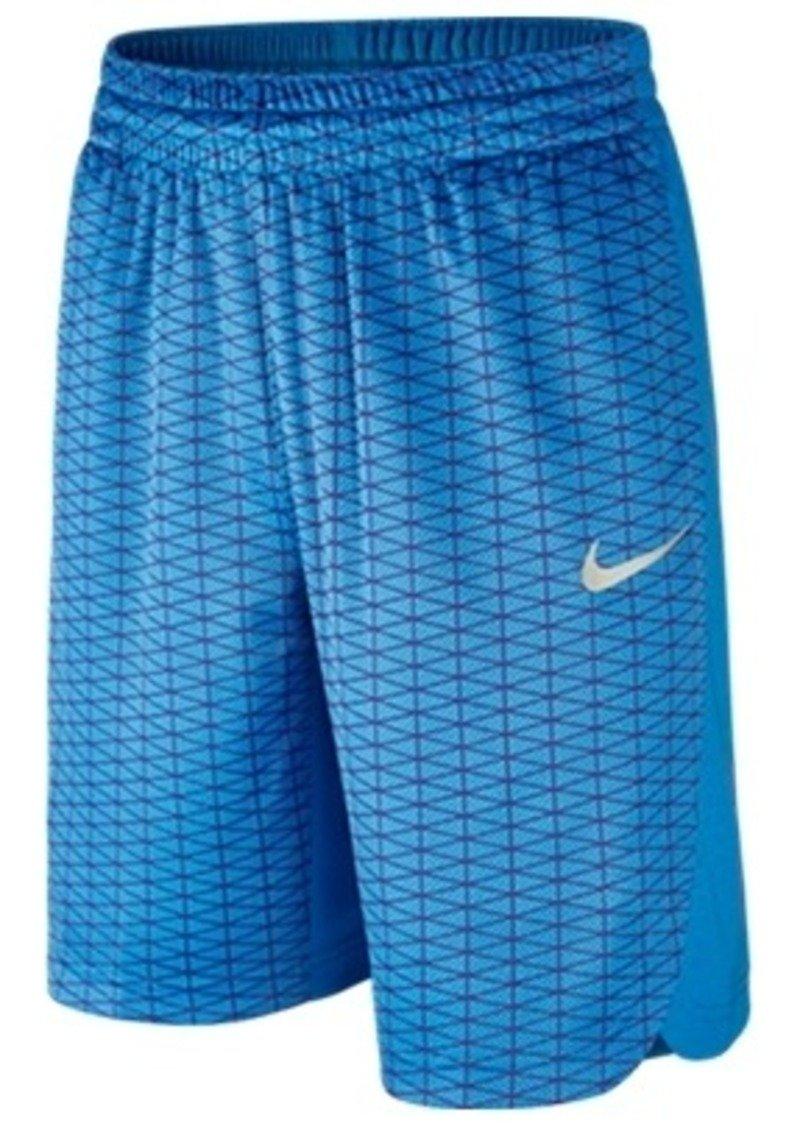 Nike Boys' LeBron Hyper Elite Basketball Shorts 803842-435 (Large) Blue by NIKE