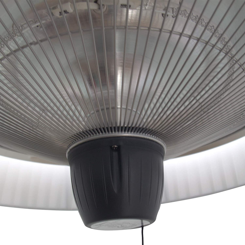 Outsunny Deckenheizstrahler H/ängen H/ängen Elektrisch 1500W Wei/ß 50x50x30cm MH Handel GmbH DE842-1120431