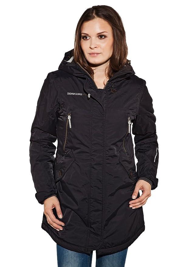 försäljning online elegant gratis frakt Didriksons Elsa Lady Parka Womens Winter Jacket - Black, 40 Inch ...