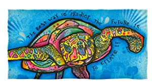 Dawhud Direct Cotton Beach Towel by Dean Russo (Turtle)