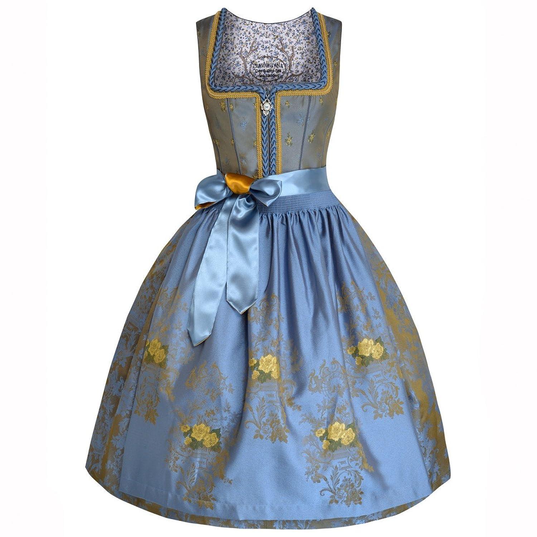 Midi Dirndl Alice in Blau von Tramontana