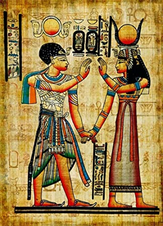 OFILA Ancient Egyptian Paintings Backdrop 6x8ft Pharaoh Queen Photography  Background Ancient Egyptian Mural Wall Home Decor Wallpaper Egyptian Theme