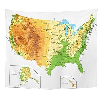 Amazon.com: TOMPOP Tapestry California United States of ...