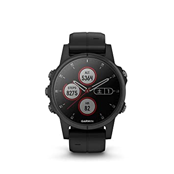 Sportuhr GPS & Sportuhren Garmin fenix 5 Plus Glass Silver/Black NEU