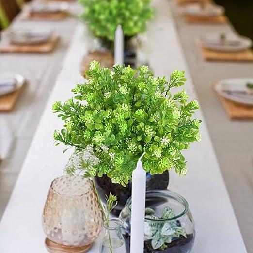 Mihounion 4 Bundel Kunstliche Pflanzen Gefalschte Kunstliche