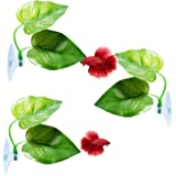 CousDUoBe Betta Fish Leaf Pad - Improves Betta's Health by Simulating The Natural Habitat( Double Leaf Design, one Big and on