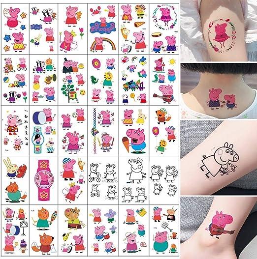 HNSYDS Etiqueta Engomada Del Tatuaje For Niños Chica Linda Fresca ...
