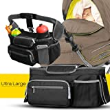 Novopal Baby Stroller Organizer with Shoulder Strap ,Universal Fitting ,Anti-Slip Safety Buckle Design