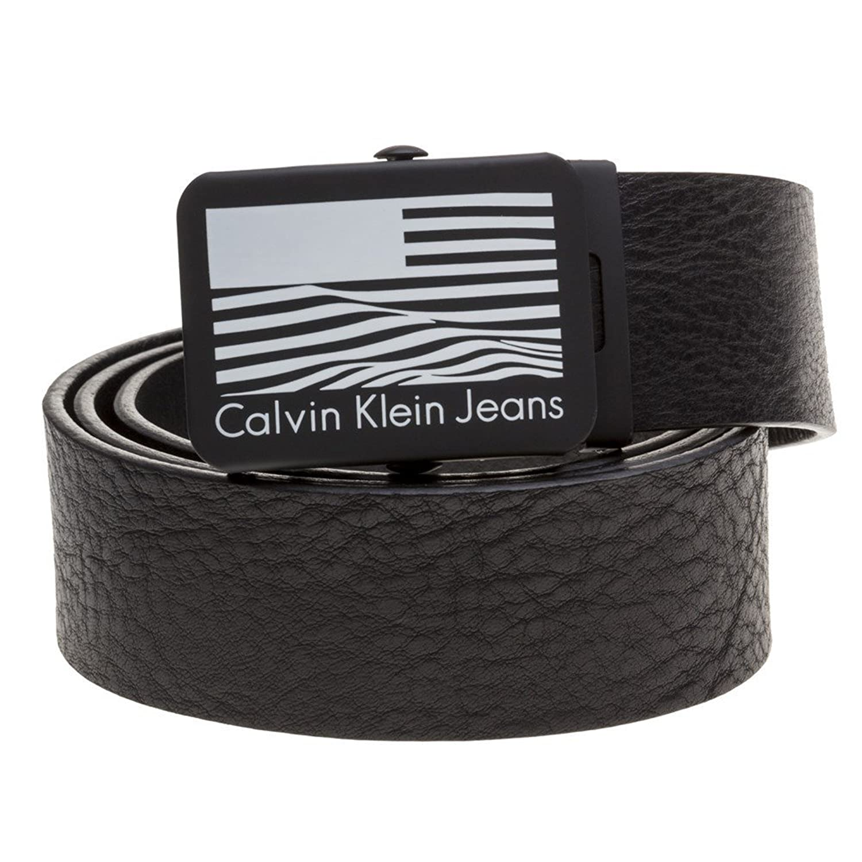 Calvin Klein Flag Plaque Hombre Belt Negro 85% OFF - www.badstuff.es da0f4b8a308