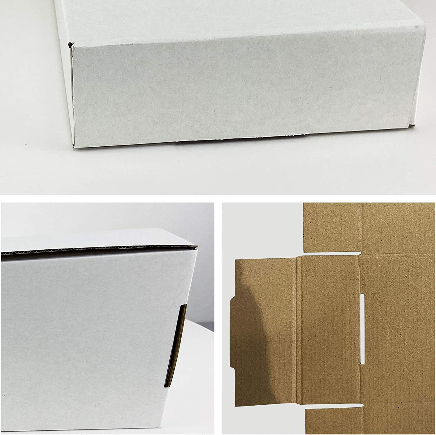 HORLIMER 11x8x2 inches White Corrugated Cardboard Box Literature Mailer Pack of 25