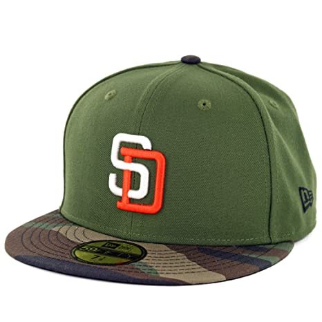 free shipping e3463 a6b5b Image Unavailable. Image not available for. Color  New Era 59Fifty San  Diego Padres Fitted Hat ...