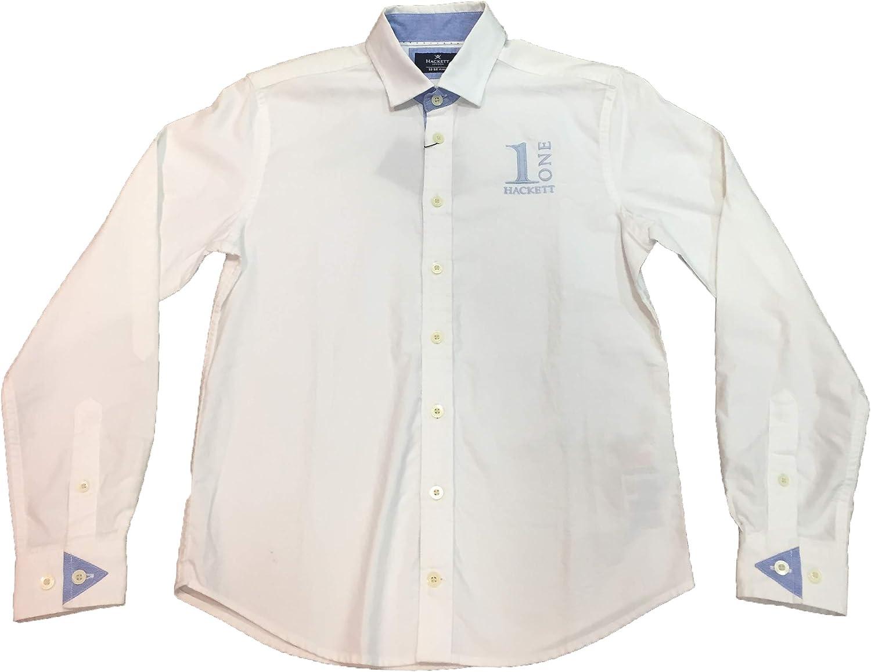 Hackett - Camisa de Manga Larga Numb, Chico, Color: Blanco (14, Blanco): Amazon.es: Ropa y accesorios
