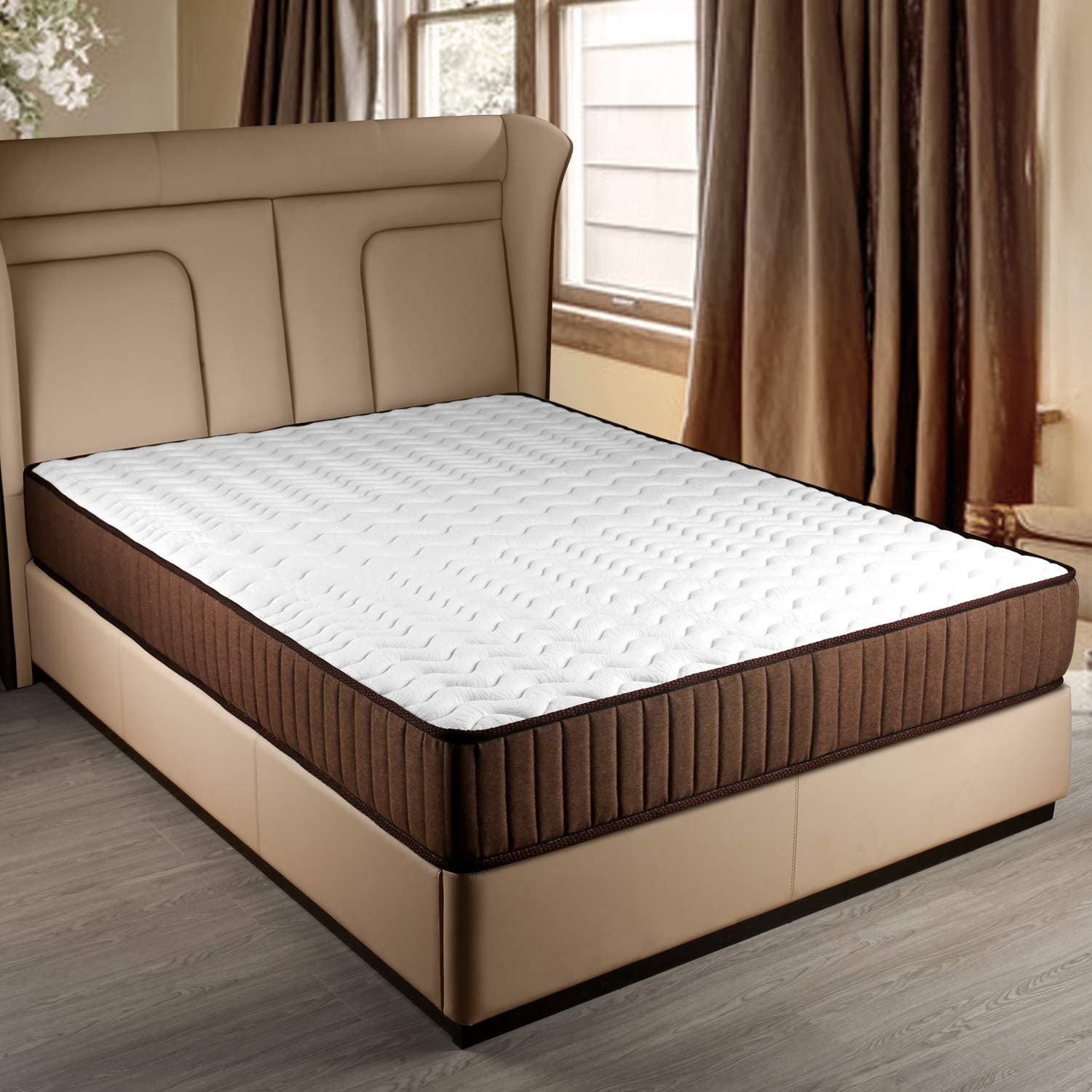 GENERAL ARMOR Memory Foam Mattress – Twin, 8 Inch, One Side Firm and One Side Soft Bed, Choose One fits You Twin