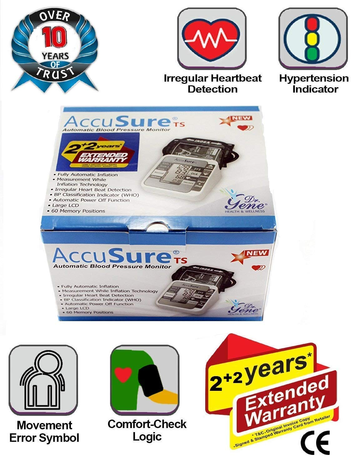 118b2aaf8903 ACCUSURE Blood Pressure Monitoring Machine 4 YEAR EXTENDED WARRANTY (BP  MONITOR)