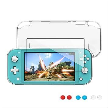 Funda Compatible with Nintendo Switch Lite, Weideworld TPU Anti-Choque Carcasa con Protector de Pantalla y 6 Agarres ...