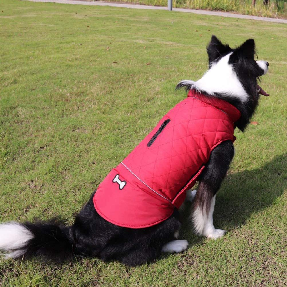 Withu Pet Dog Coat Cozy Windproof Cold Winter Reversible Warm Vest Jacket Outfits Apparels for Small Puppy Medium Large Dogs Blue M