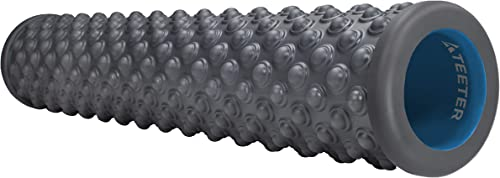 Teeter Massage Foam Roller – Textured for Deep Tissue Muscle Relief to Boost Recovery, Flexibility, Mobility – Back Pain Relief, Sports Massage, Myofascial Release