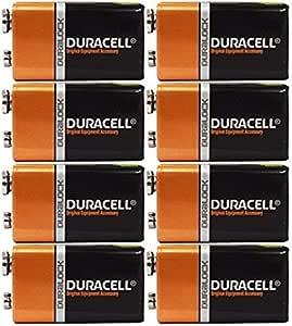 Duracell Coppertop Batteries, 9V, 8 Pack
