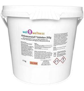 Oxígeno activo Pastillas de 20 gr. – conf.KG.1 + 2 L de agua ...