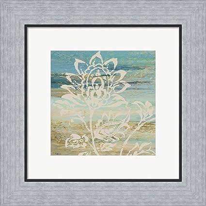 Amazon.com: Blue Indigo w/Lace I by Studio Nova Framed Art Print ...