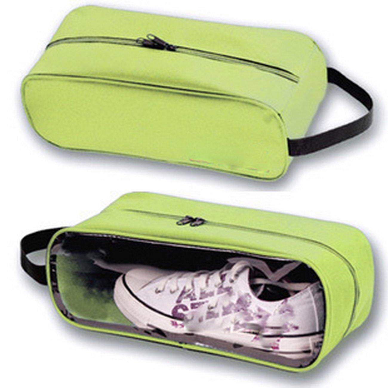 liuxiyux31liwx8 X Outdoors、旅行、クリアビジュアル化、ストレージ、バッグ、靴、バッグ、靴カバー、スポーツ旅行靴、バッグ、防水靴カバー。Visualポーチ靴バッグ、靴、ポーチ、シューズポーチ B078M6CPYY  グラスグリーン